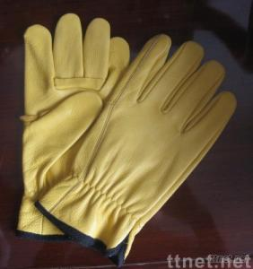 HR-612 Yellow cowhide gloves