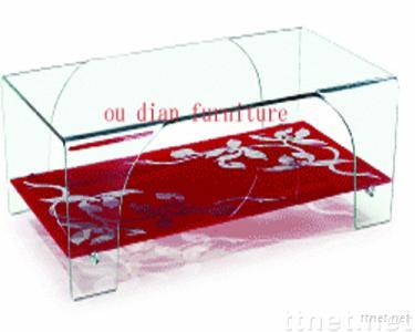 blend glass coffee table