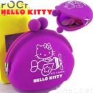 Hello Kitty Printed Silicone Coin Pouch