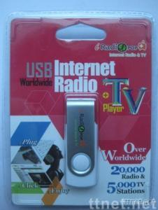USB Internet TV and radio player