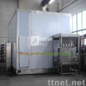 Fluidization freezer