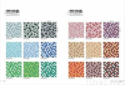 Glass Mosaic Tiles(Crystal Mixed Color 8mm)