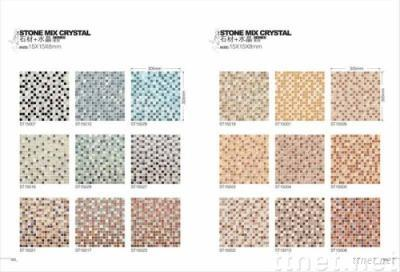 Glass Mosaic Tiles (Stone Mixed Crystal) Part 1