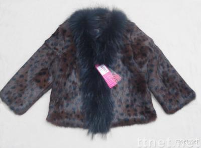 Natural mink and fox fur child's coat