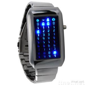 The Warp Core-Japanese Style Blue LED Watch
