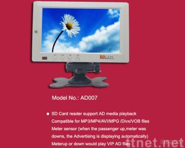Car 7-inch TFT SD Card Advertising Player