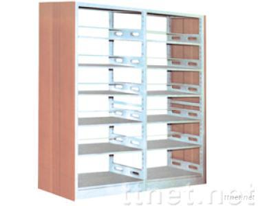 double-pillar double-sided book rack with PVC cover