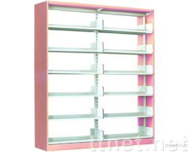 single-pillar double-sided book rack with PVC cover