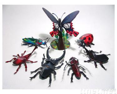 3D Paper Crafts of Arts (Insect)