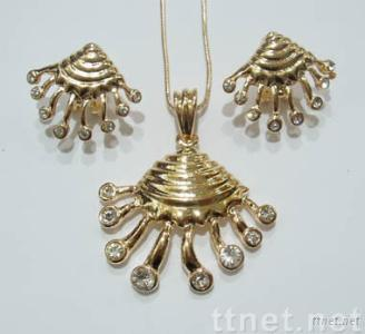 Earrings-Pendant  set