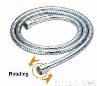 Chrome plate shower hose and stainless steel shower hose