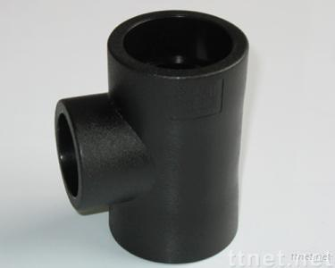 pe pipe fittings butt fusion reducing tee