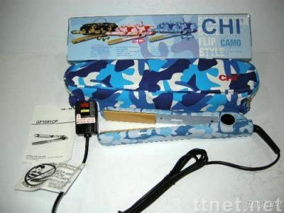 Payable Wholesale CHI 1'' Blue Camo Collection Ceramic Flat Iron,DHL Free Shipping