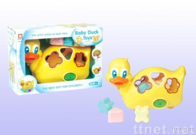baby toy/infant toy intellective  Musical  Block Duck