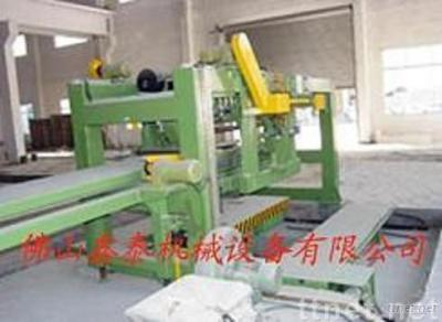 material piling platform of the lapping and pressing line