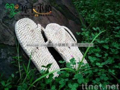 Japanese handmade straw sandals/straw shoes/leisure shoes/Plant Plaiting/original ecological