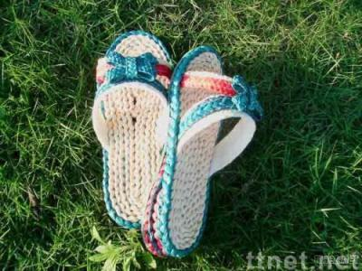 handmade straw sandals A-LI/straw slippers/leisure shoes/Plant Plaiting/original ecological