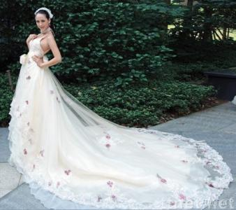 long train beading embroidery hand-work flower bridal wedding dress gown