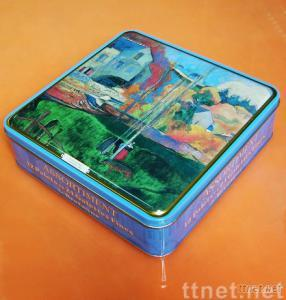 Food Case, Square Tin Lunch Box