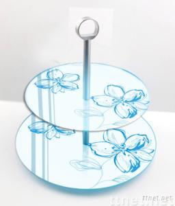 tempered glass cake tier