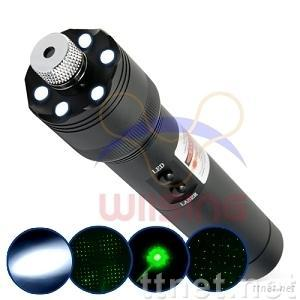 200m Green Laser Pointer and LED Torch Light