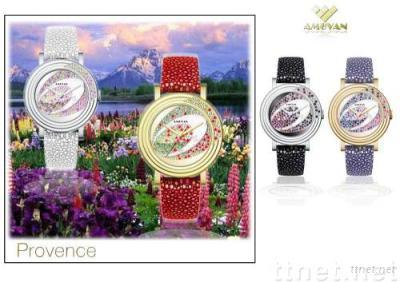 Fashion watches jewelry watches quartz watches wrist watches swiss watches crystal watches lady watches PROVENCE