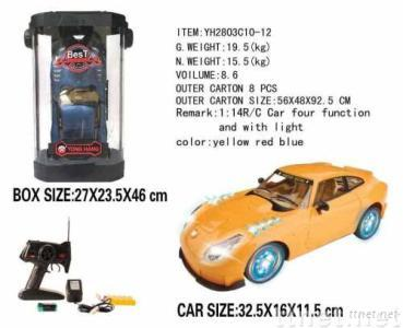 Plastic R/C racing car