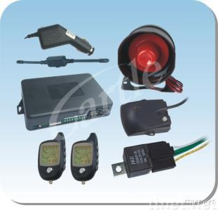 FM two way car alarm system with engine starter