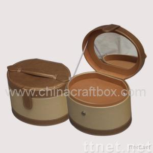 Faux Leather Cosmetic Box/Case