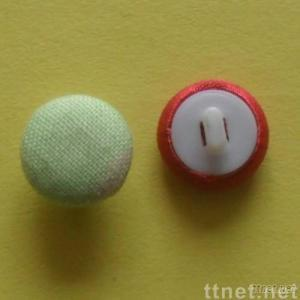 Plastic Fabric Covered Button