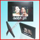 Black Porous Wood  Photo  Frame With a Letter
