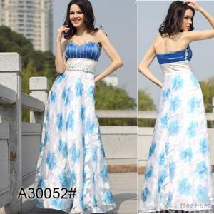 Evening Gowns Evening Dress A-line Strapless Prom Party Dress,30052