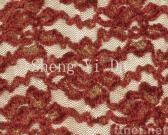 Red Nylon Lace with Metallic