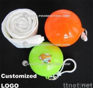 Gift-Color Ball Poncho with Customized Logo