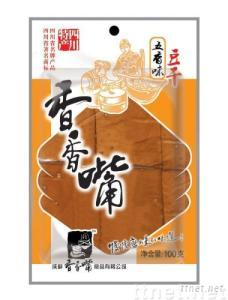 Dried bean curd with barbeque flavor/snack(100g)