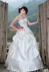 A-line wedding dress bridal  gown