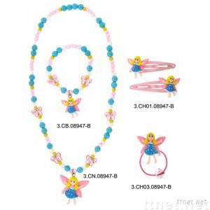 Butterfly Girl-patterned Jewelry Set
