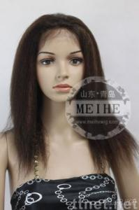 Blend 2# and 30# kinky straight lace front wigs