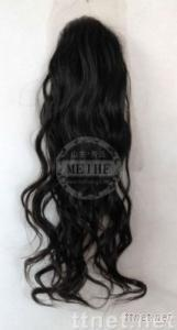 New loosen curl Indian remy hair No.1# human hair Toupee