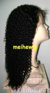 Women's jerry curl wig 18 inch color 1B# wig