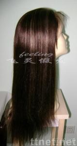 Ladies' indian hair color 4# and 27# 20 inch light yaki fashional wig