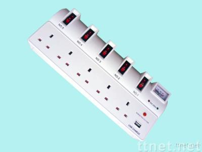 UK socket with USB charging interface JN-EU06