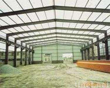 color painted steel used in steel structure of plant