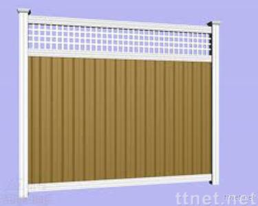 color coated aluminum used in decoration as wall fence