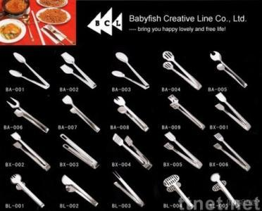 stainless steel food clips, serving tongs