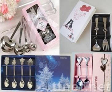 wedding heart spoons, silver plated spoons
