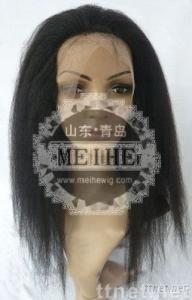 kinky straight full lace wig in stock