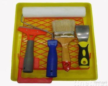 PAINT TOOLS PAINT ROLLER,PAINT TRAY,PAINT BRUSH,PUTTY KNIFE