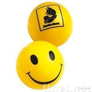 pop smile face pu squeeze stress ball