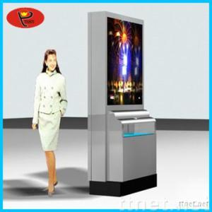 airport advertising light box dustbin